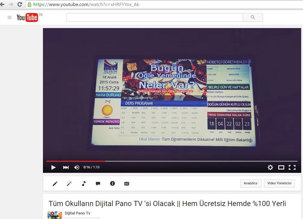dijital pano tanıtım videosu youtube